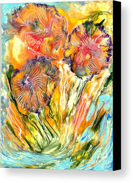 Healing Canvas Print featuring the painting Healing Blossoms For Heather Ward by Heather Hennick