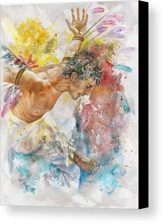Man Canvas Print featuring the painting Icarus by Rineke De Jong