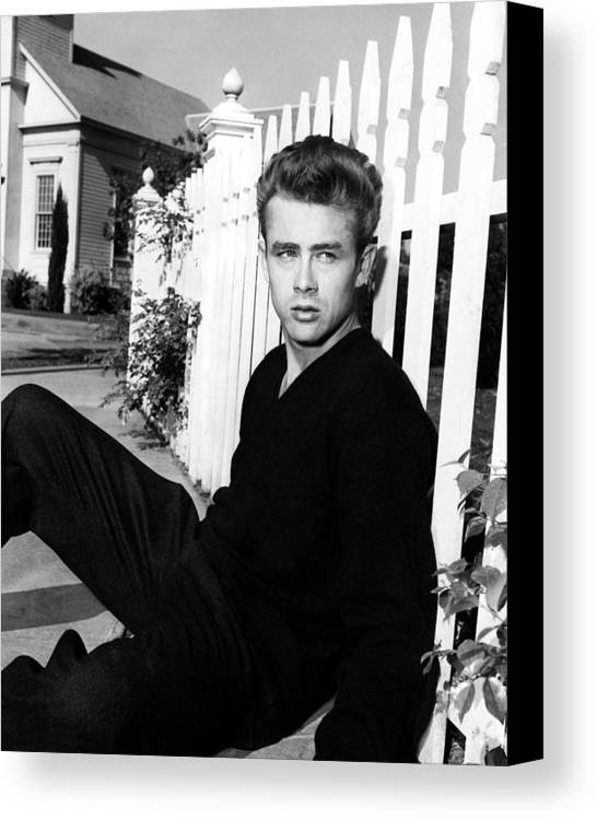Hollywood Stars Celebrity Canvas Print featuring the photograph James Dean by Peter Nowell