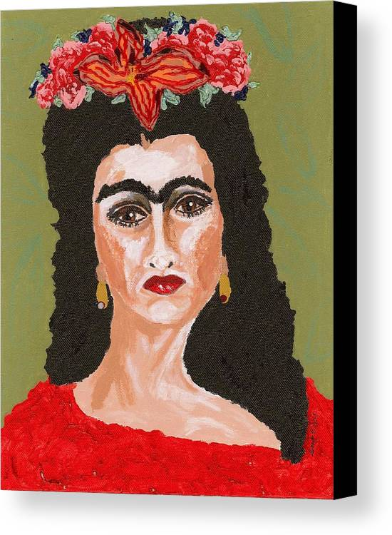 Frida Art Canvas Print featuring the painting Just Frida by Stacey Torres