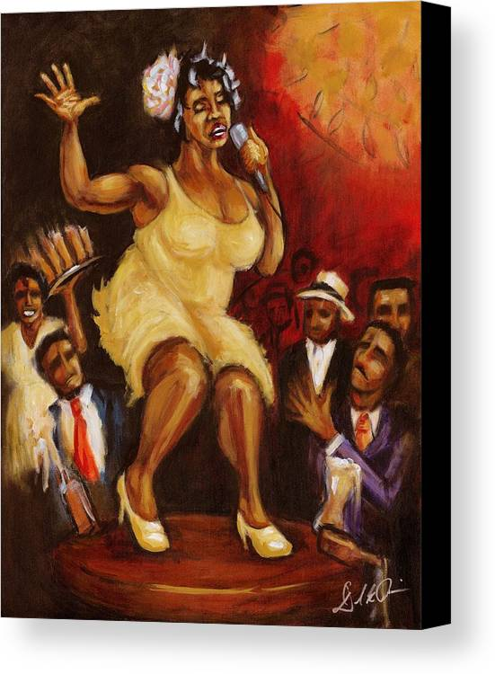 Blues Singer Canvas Print featuring the painting Katrina by Daryl Price