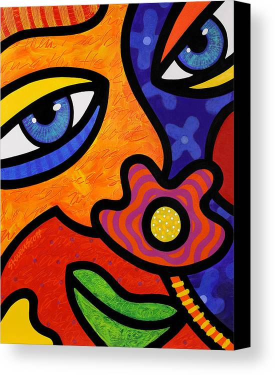 Eyes Canvas Print featuring the painting Lilli Lilligrin by Steven Scott
