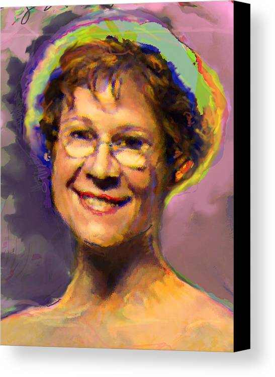 Portrait Canvas Print featuring the digital art Lorraine by Noredin Morgan