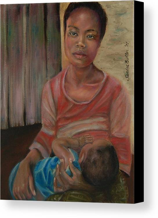 Mother Canvas Print featuring the painting Love And Despair by Sandra Butler