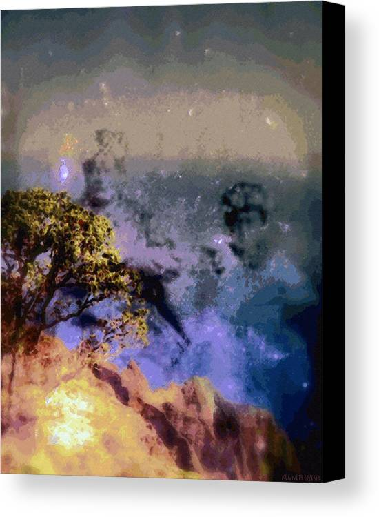 Rainbow Colors Digital Canvas Print featuring the photograph Manahuna by Kenneth Grzesik