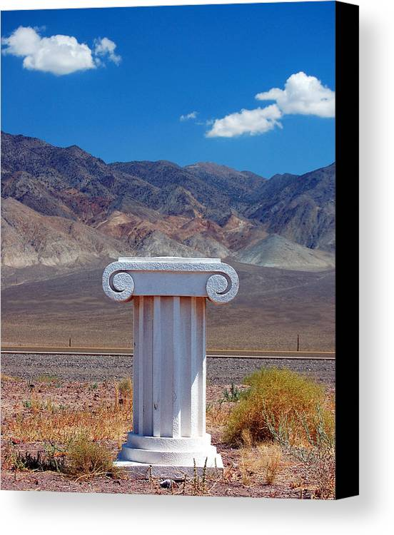 Columns Canvas Print featuring the photograph Middle Of Nowhere by Heather S Huston