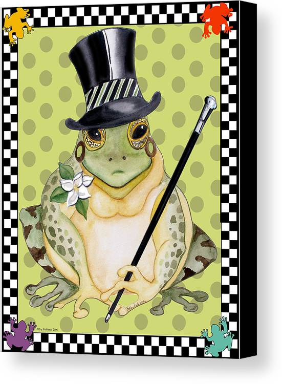 Animals Canvas Print featuring the print Mr. Beau Frog by Kay Robinson