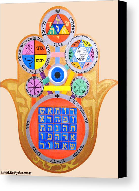 Multiple Canvas Print featuring the painting Multiple Solomaic Amulets by Darren Stein