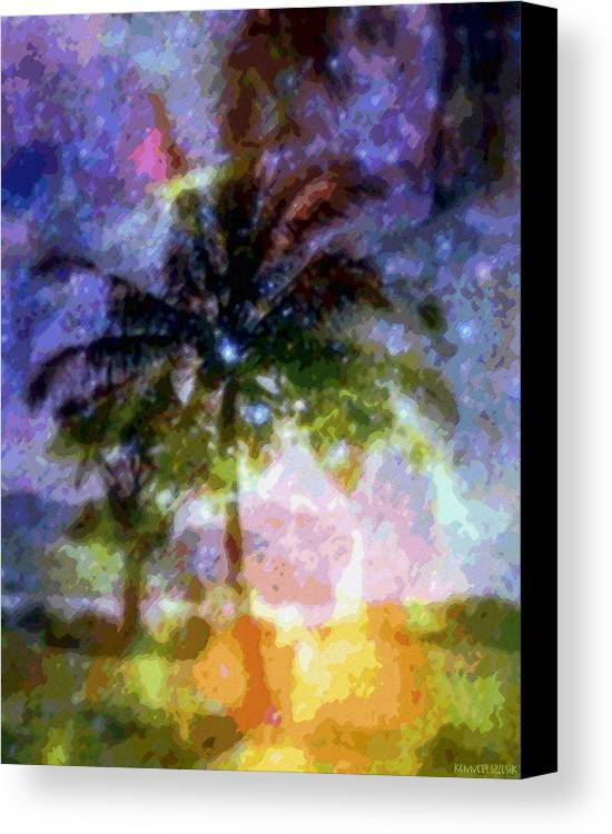 Tropical Interior Design Canvas Print featuring the photograph Mystic Palm by Kenneth Grzesik