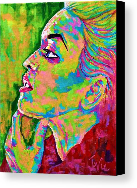 People Canvas Print featuring the painting Neon Vibes Painting by Jevie Stegner