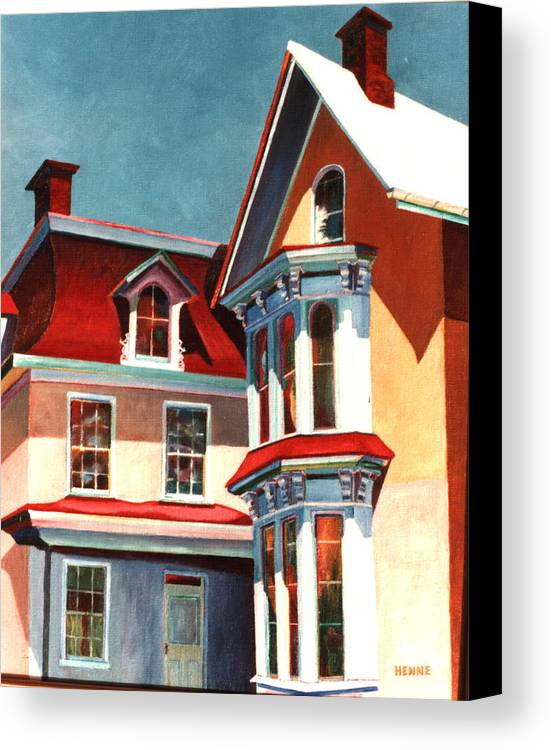 Old House Canvas Print featuring the painting New Light On The Past by Robert Henne