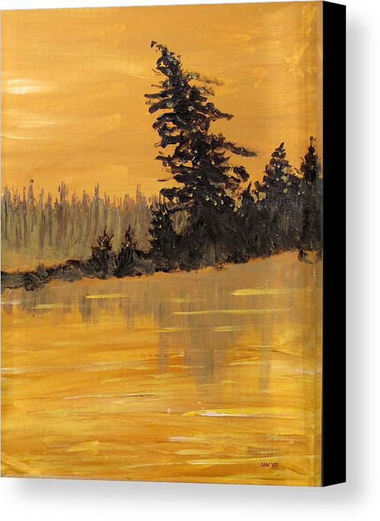 Northern Ontario Canvas Print featuring the painting Northern Ontario Three by Ian MacDonald