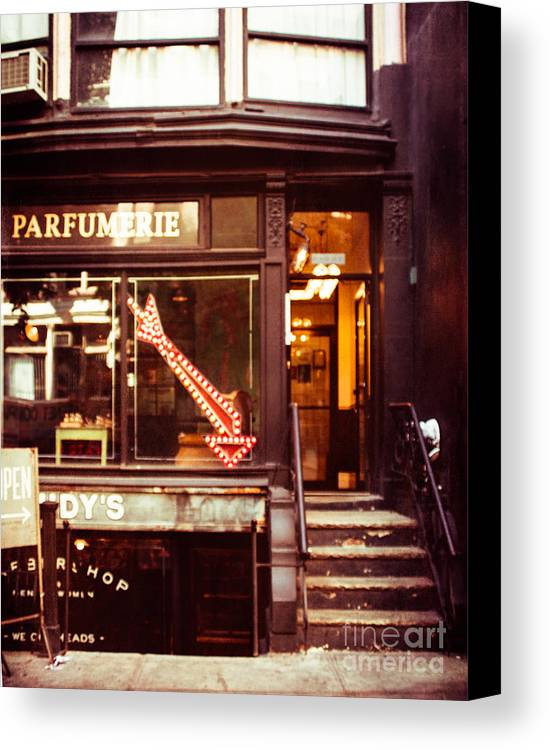 New York City Shop Canvas Print featuring the photograph Nyc Parfumerie by Sonja Quintero
