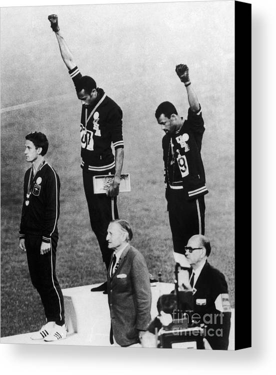 1960s Canvas Print featuring the photograph Olympic Games, 1968 by Granger