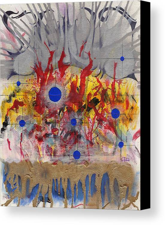 Chaos Canvas Print featuring the painting Order In Chaos by Nathaniel Hoffman
