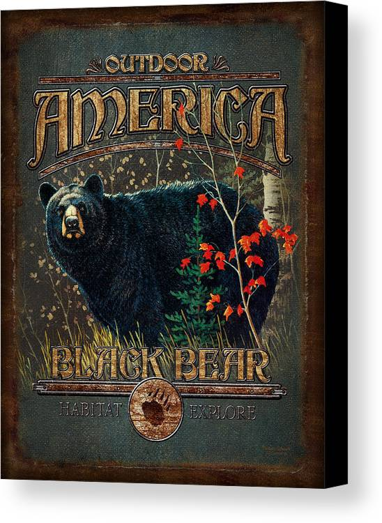 Robert Schmidt Canvas Print featuring the painting Outdoor Bear by JQ Licensing