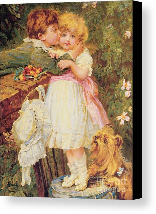 Bal9291 Canvas Print featuring the painting Over The Garden Wall by Frederick Morgan