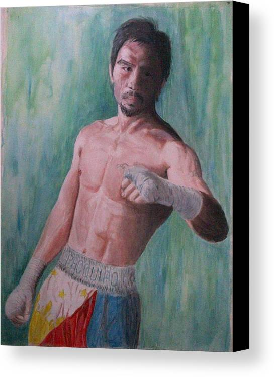 Boxing Canvas Print featuring the painting Phenomenal. by SAIGON De Manila