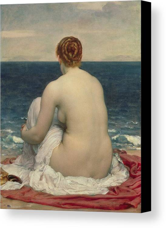 Psamanthe Canvas Print featuring the painting Psamanthe by Frederic Leighton