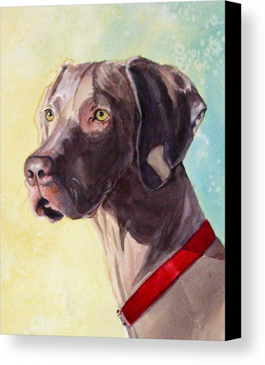 Canine Canvas Print featuring the painting Quelly by Gina Hall