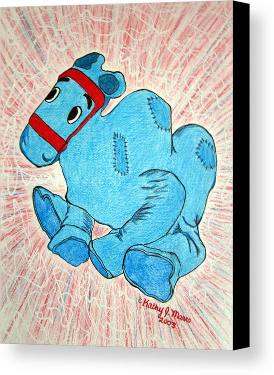 Raggedy Ann And Andy Camel Canvas Print featuring the painting Raggedy Camel by Kathy Marrs Chandler