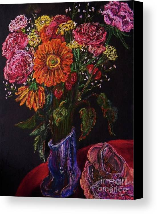 Flowers Canvas Print featuring the pastel Recital Bouquet by Emily Michaud