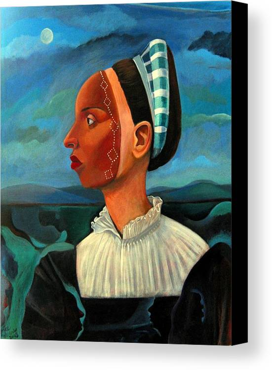 Woman Canvas Print featuring the painting Revealed Truths And Myths IIi by Joyce Owens