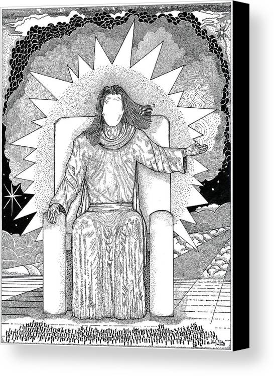 Revelation Canvas Print featuring the drawing Revelation 20 by Glenn McCarthy Art and Photography