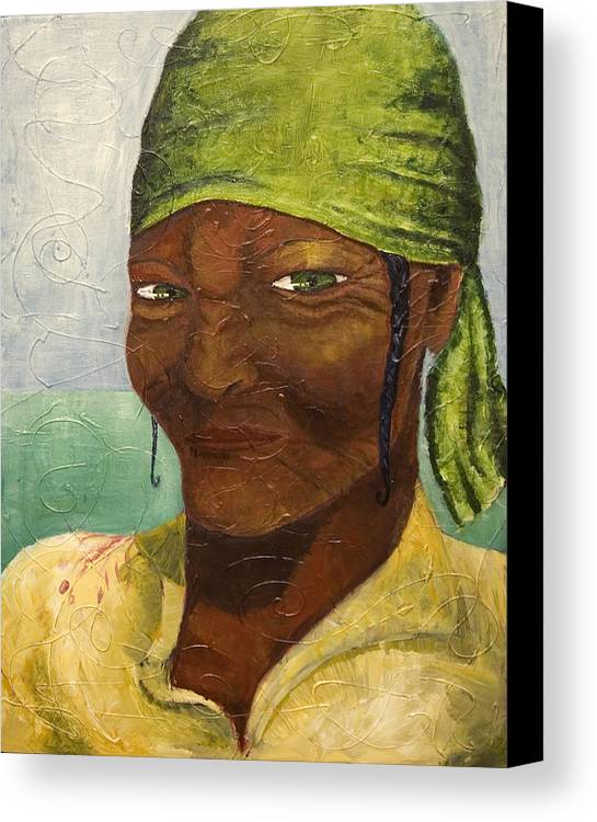 Portrait Canvas Print featuring the painting Scorn by Michelle Key