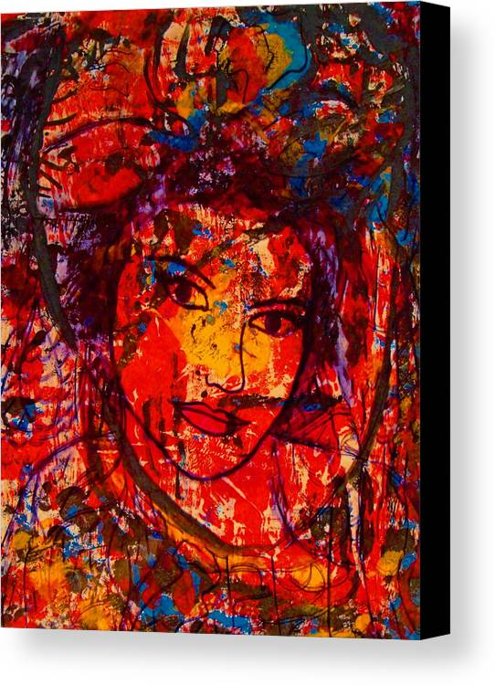 Portrait Canvas Print featuring the painting Self-portrait-5 by Natalie Holland
