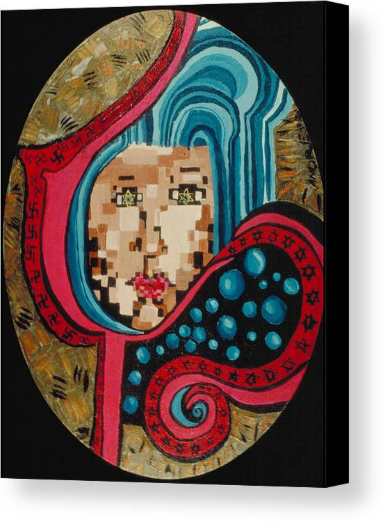 Jandrel Canvas Print featuring the painting Self Portrait by J Andrel