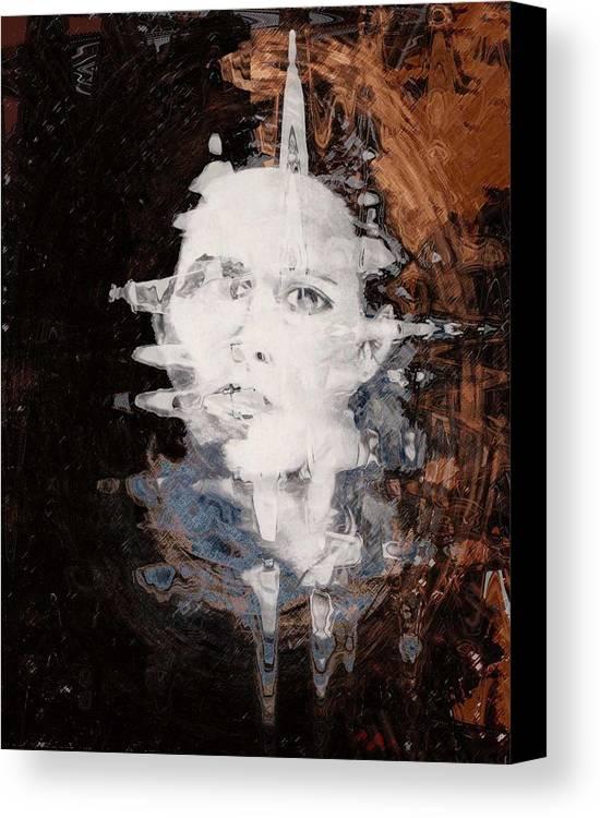 Portrait Canvas Print featuring the digital art Silenced by LeeAnn Alexander