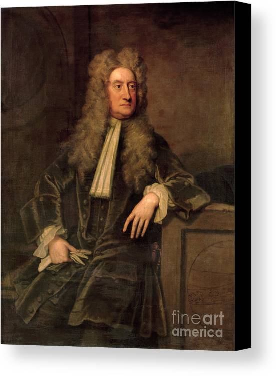 Sir Canvas Print featuring the painting Sir Isaac Newton by Sir Godfrey Kneller