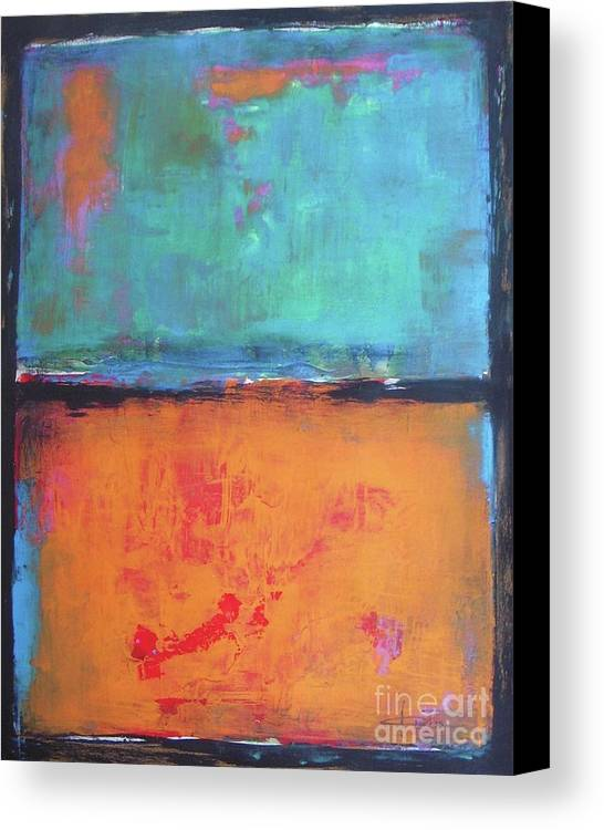Abstract Canvas Print featuring the painting Sky Sky by Vesna Antic