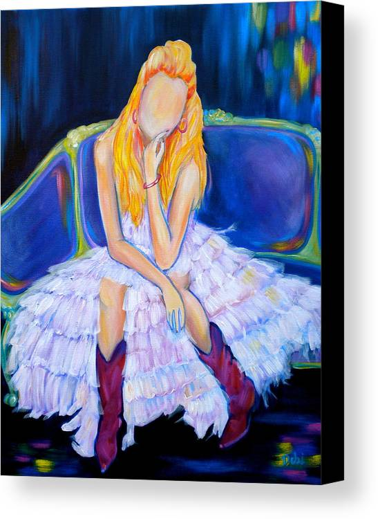Southern Sass Canvas Print featuring the painting Southern Sass by Debi Starr