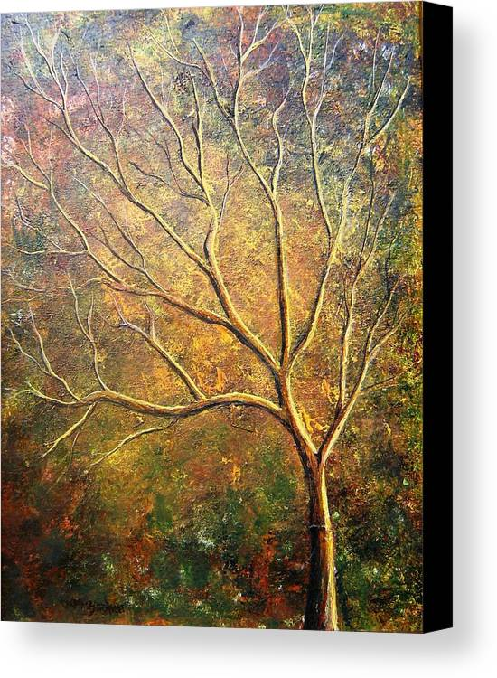 Canvas Print featuring the painting Spirit Tree 5 by Tami Booher