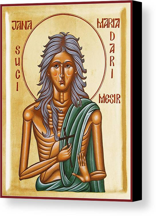 Icon Canvas Print featuring the painting St Mary Of Egypt by Julia Bridget Hayes