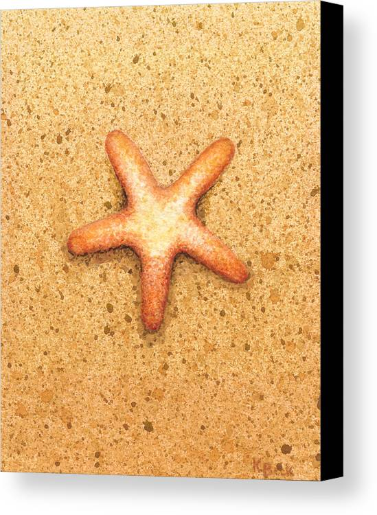 Print Canvas Print featuring the painting Star Fish by Katherine Young-Beck