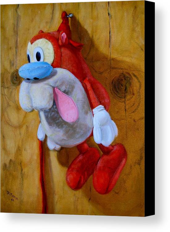Realism Canvas Print featuring the painting Stimpy by Donelli DiMaria
