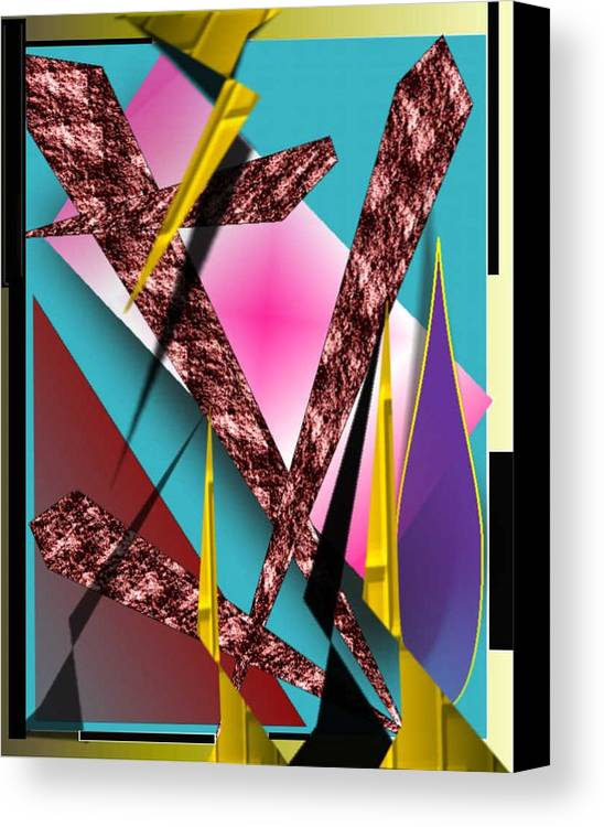 Abstracts Canvas Print featuring the digital art Structure by Brenda L Spencer