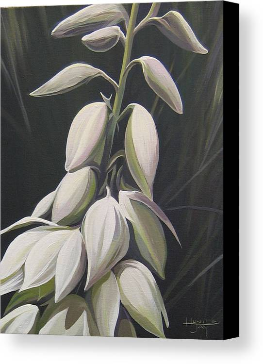 Yucca Plant Canvas Print featuring the painting Summersilver by Hunter Jay
