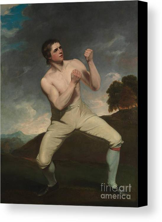The Boxer Humphries Canvas Print featuring the painting The Boxer Humphrie by MotionAge Designs