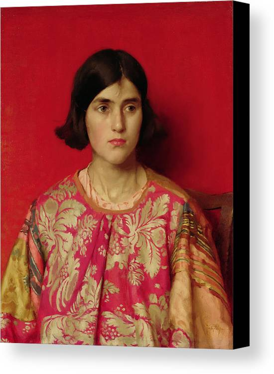 The Canvas Print featuring the painting The Exile - Heavy Is The Price I Paid For Love by Thomas Cooper Gotch