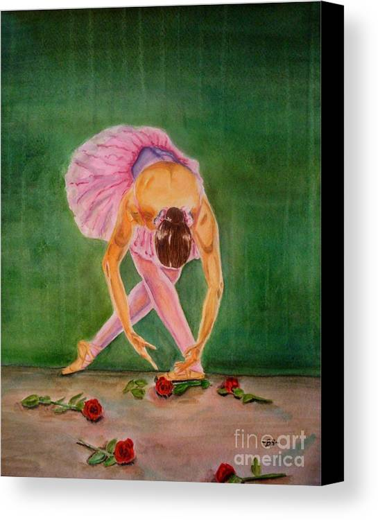 Dancer Canvas Print featuring the painting The Finale by Bonnie Schallermeir