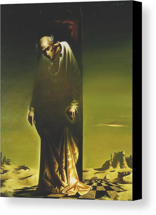 Figures Canvas Print featuring the painting The King by Andrej Vystropov