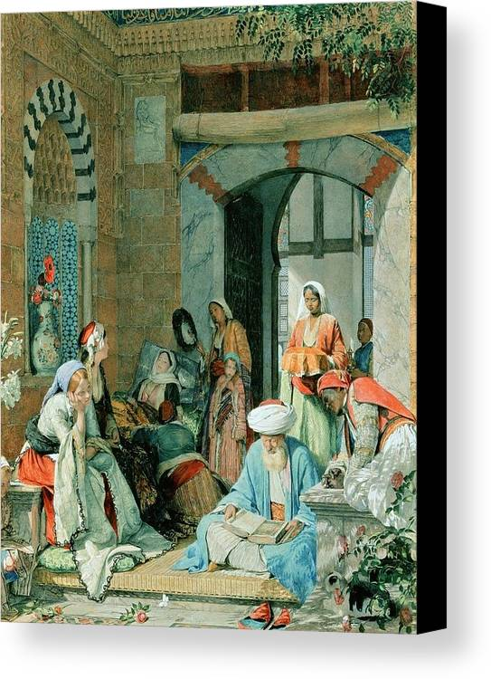 John Frederick Lewis(1804-1876)-orİentalİsm-(the Prayer Of The Faithful Shall Cure The Sick_19 Th Century) Canvas Print featuring the painting The Prayer Of The Faithful by John Frederick