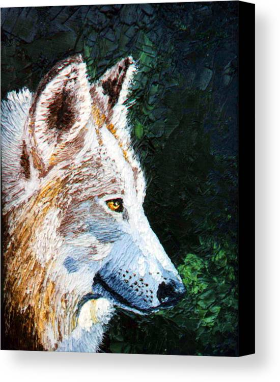 Timber Canvas Print featuring the painting Timberwolf by Stan Hamilton