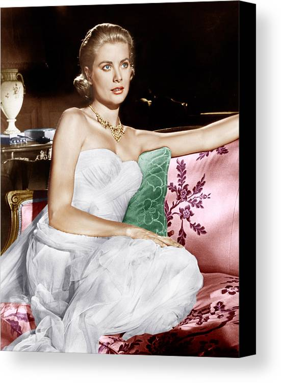 1950s Portraits Canvas Print featuring the photograph To Catch A Thief, Grace Kelly, 1955 by Everett