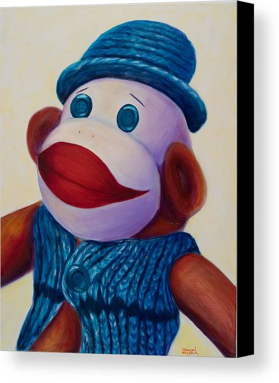 Children Canvas Print featuring the painting Uncle Frank by Shannon Grissom