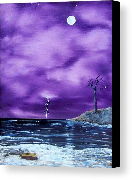 Surrealism Canvas Print featuring the painting Wet Guitar by Tony Rodriguez